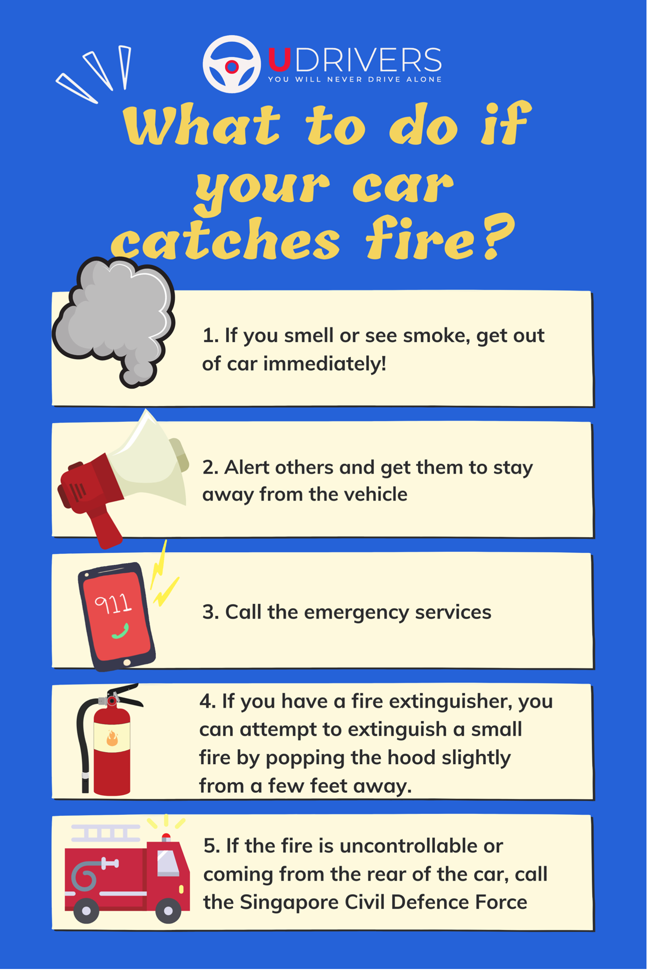 What To Do If Your Car Catches Fire In Singapore